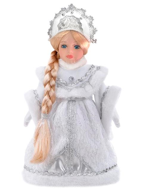 """Новогодняя игрушка """"Снегурочка Василиса"""" 30см, керамика/ткань, на подставке"""