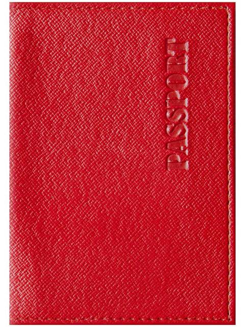 """Обложка для паспорта Office Space """"Бизнес"""" к/зам, красный"""