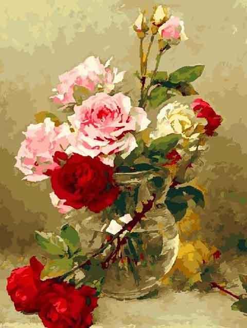 """Картина по номерам Raduga """"Колючие розы"""" 40*50см"""