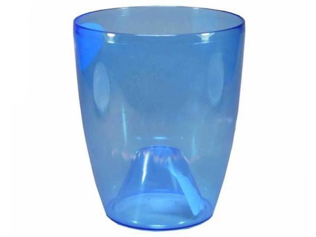 """Горшок для цветов """"Изабелла"""" 12,5см прозрачный синий"""