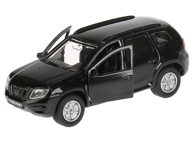"""Игрушка """"Технопарк. Машина Nissan Terrano """" металл, инерционная, открывающиеся двери, багажник, черная"""