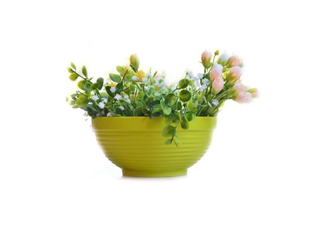 """Горшок для цветов (миска) """"Парма"""" 1,3л, d-17см, h-85 без поддона, фисташка"""