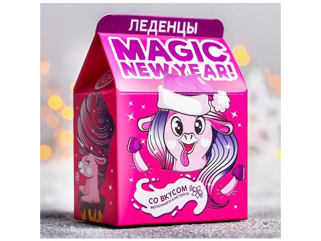 """Леденцы Фабрика Счастья """"Magic new year"""" со вкусом молочного коктейля, в коробке, 120г"""