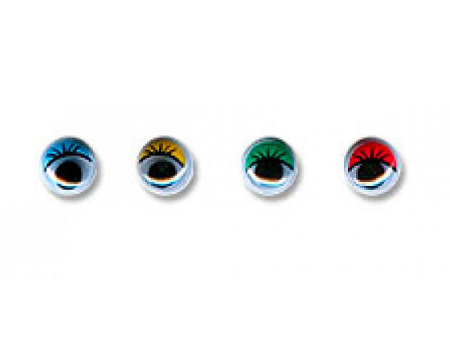 """Декор """"Глаза круглые с бегающими зрачками"""" 8 мм (50 шт в упаковке)"""