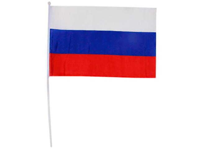 "Флаг России ""Триколор"" 40х60 см без герба, на пластиковой трубочке"