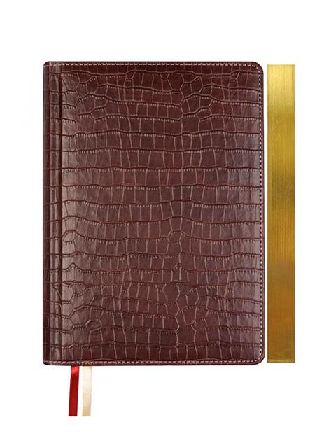 """Ежедневник недатированный А5 160 листов deVENTE """"Wild"""" иск.кожа, золотой срез, кремовая бумага, коричневый"""