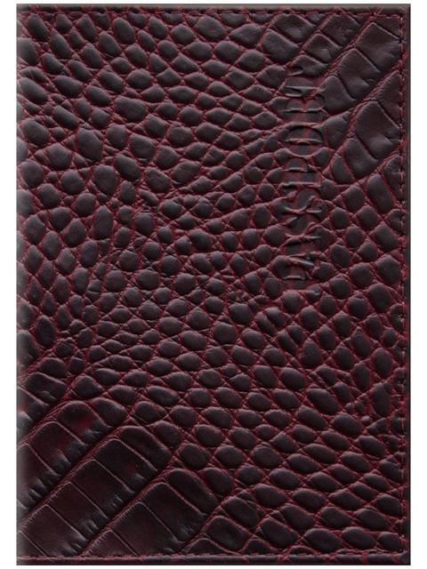 """Обложка для паспорта Office Space """"Сагат"""" кожа, рубиновый"""