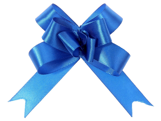 """Бант оформительский """"Бабочка №1,8"""" простой синий, 10шт. в упак."""