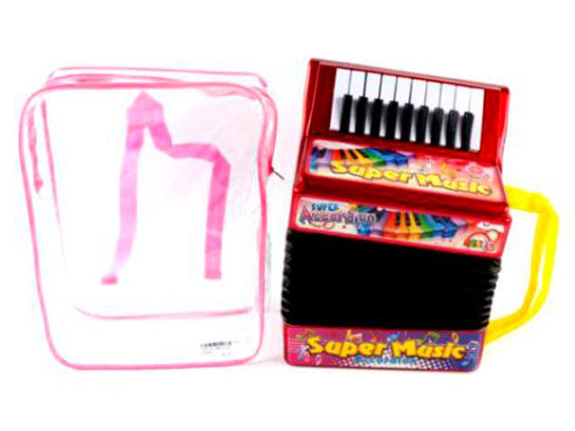 Музыкальный инструмент Аккордеон 26х21, на батарейках в рюкзаке