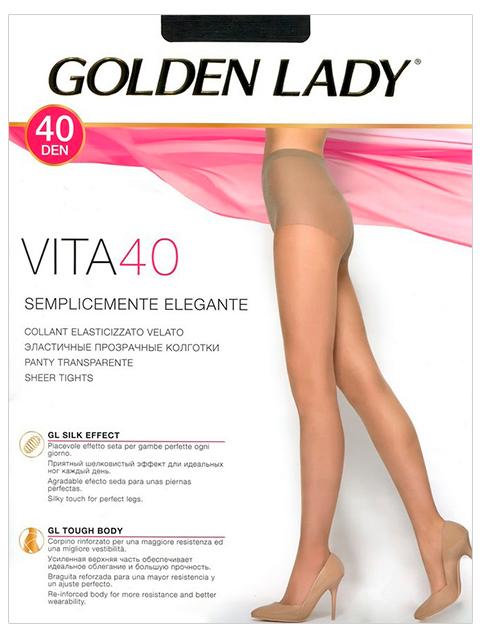 "Колготки женские Golden Lady ""Vita 40"" Nero 3-M"
