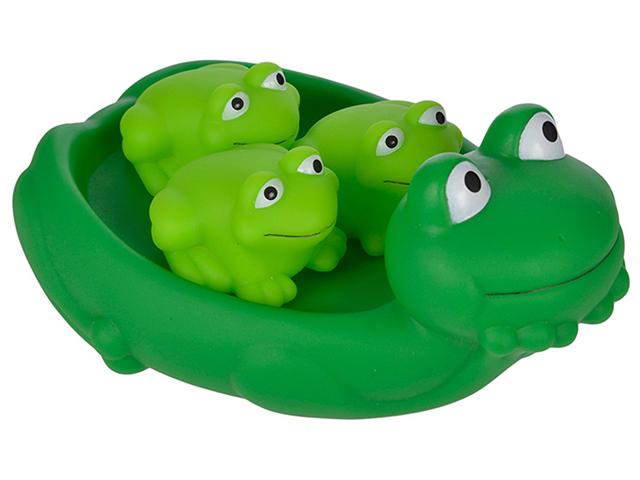 """Набор для купания """"Мама лягушка и лягушата"""", в сетке"""