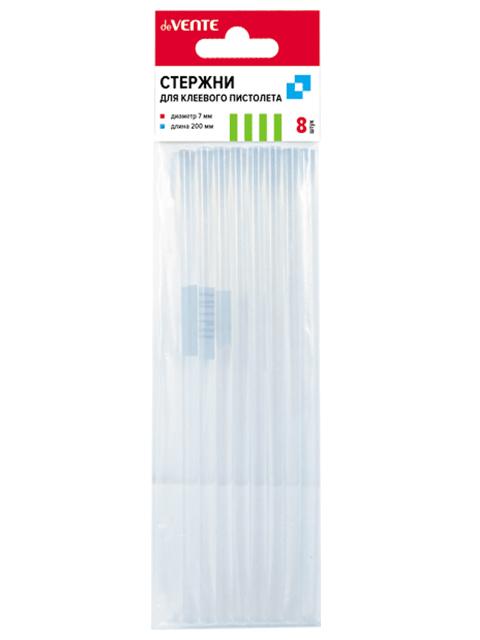 Стержни клеевые deVENTE, диаметр 7 мм, длина 200 мм, прозрачные, комплект 8 штук