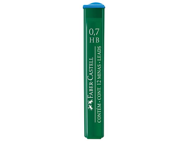 """Грифели для автокарандашей Faber-Castell """"Polymer"""" НВ 0,7 мм, 12 шт в упаковке"""