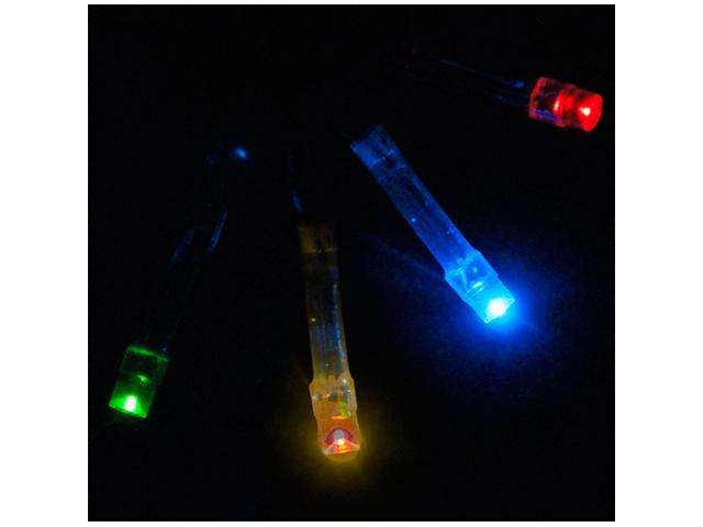 Гирлянда электрическая 20 ламп, 2,2 м, мультицвет, на батарейках 2хАА (не входят в комплект)