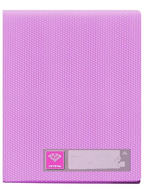 """Папка Бюрократ """"Cristal"""" 40 вкладышей, фиолетовый"""