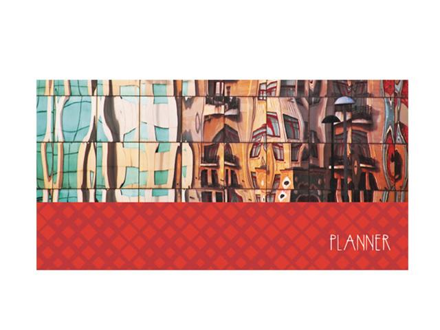 """Планинг недатированный (карманный) 64 листа Listoff """"Офисный стиль. Отражения"""", обл. 7БЦ, матов. лам"""