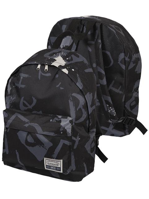 """Рюкзак подростковый deVENTE """"Black Gray"""" 40х30х14 см, 1 отделение, текстиль, черный"""