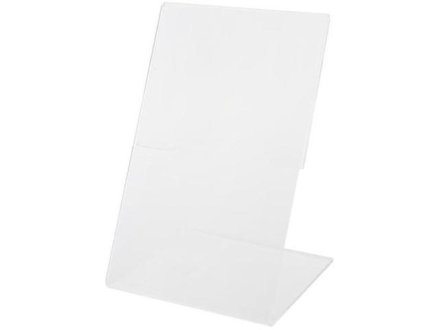"""Подставка настольная вертикальная А4 для рекламных материалов, односторонняя, прозрачный пластик """"Экономпласт"""""""