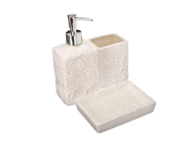 """Набор для ванной VETTA """"Розы"""" 3 предмета, керамика"""