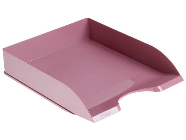 Лоток для бумаг СТАММ Дельта горизонтальный, бордовый