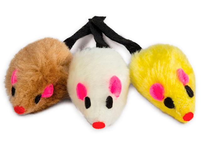 """Набор игрушек для кошек """"3 мышки"""" 52 мм (уп.3 штуки)"""