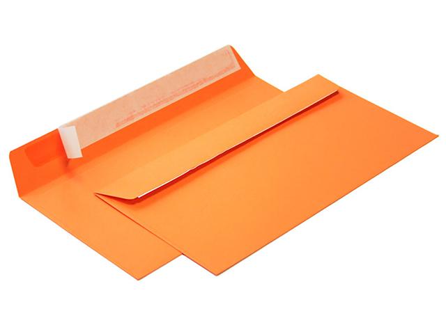 Конверт 114*229 мм силикон, оранжевый