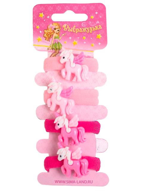"""Набор резинок для волос """"Волшебство. Розовый единорог"""" 4 шт в упаковке, ассорти"""