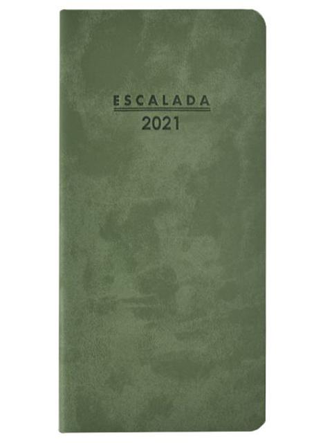 """Еженедельник датированный А6 64 листа Феникс+ """"Escalada 2021. Soft-tuch Delave"""" оливковый, мягкий переплет"""