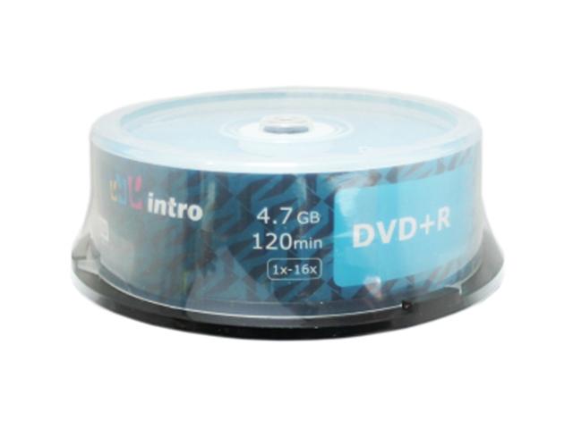 Диск DVD+R Intro 4.7 Гб 16х Cake box 25