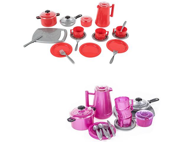 """Игровой набор посуды """"Iriska 4"""", пластмасса, 24 предмета, в пакете"""