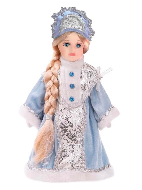 """Новогодняя игрушка """"Снегурочка Злата"""" 30см, керамика/ткань, на подставке"""