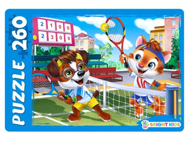 """Пазлы 260 элементов 330х240 Рыжий кот """"Bright kids. Игра в теннис"""""""