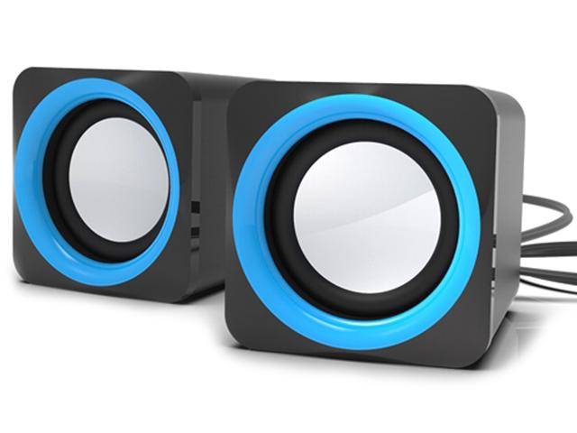 Акустическая система компьютерная Ritmix SP-2025, черная/голубая