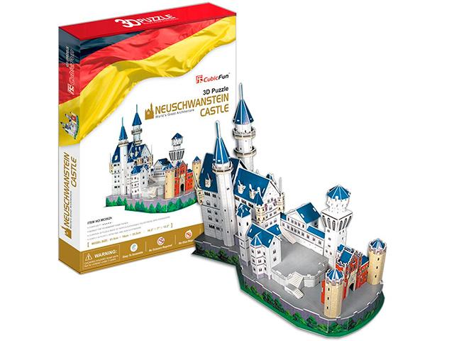 """Конструктор 3D-пазлы """"CubicFun. Замок Нойшвантайн (Германия)"""" 121 деталь"""