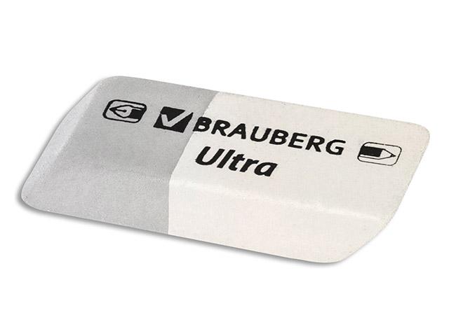 """Ластик BRAUBERG """"Ultra"""", 41х14х8мм, серо-белый, натуральный каучук, 228703"""