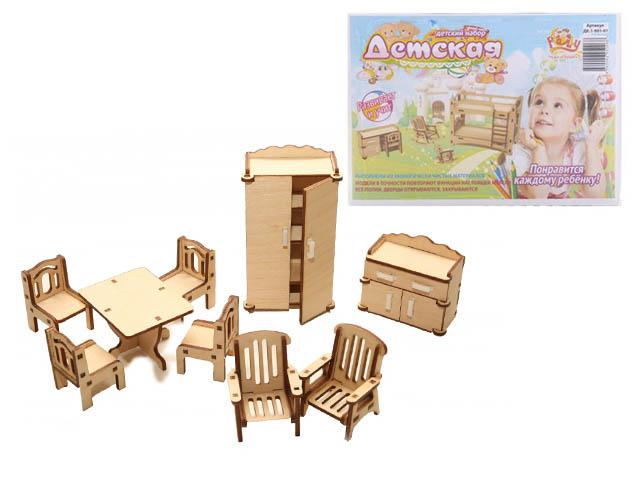 """Конструктор из дерева """"Чудо игрушки. Детская"""", в коробке"""