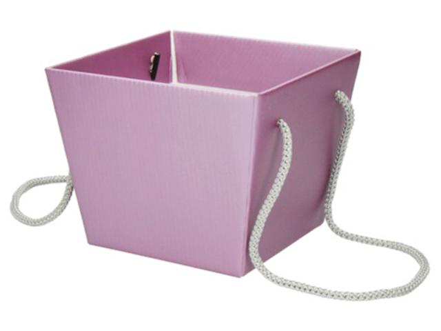 """Коробка для цветов Яркий Мир """"Премиум"""" 118х154х125 мм, сиреневый"""