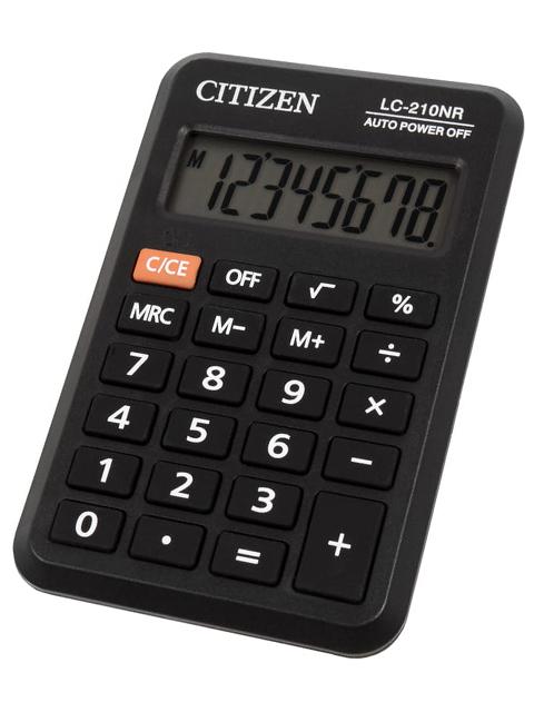 Калькулятор карманный CITIZEN LC-210NR, 8 разрядный