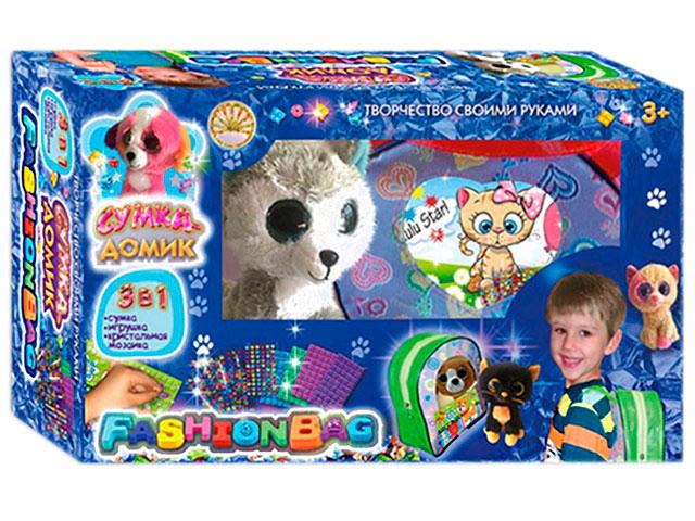 Сумка-домик №4 Синий с игрушкой