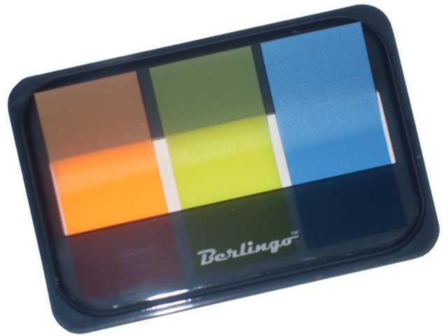 Флажки с клеевым краем Berlingo 45*20мм, 3 неоновых цвета в диспенсере