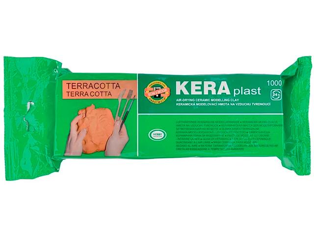 """Глина KOH-I-NOOR """"Keraplast"""" 1000 гр, терракота"""