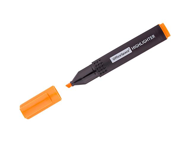 Текстовыделитель OfficeSpace 1-4 мм, оранжевый
