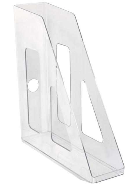 Лоток для бумаг СТАММ Актив, вертикальный, прозрачный, бесцветный