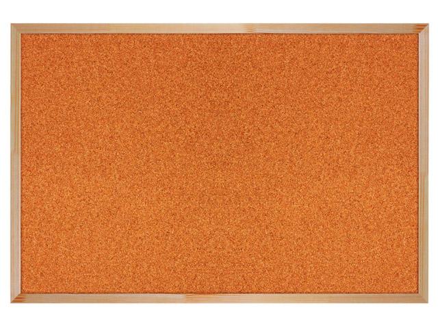 Доска пробковая BRAUBERG для объявлений, 60х90 см, деревянная рамка