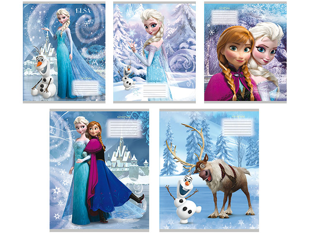 """Тетрадь А5 12 листов, клетка Проф-Пресс """"Disney. Холодное сердце-1"""""""
