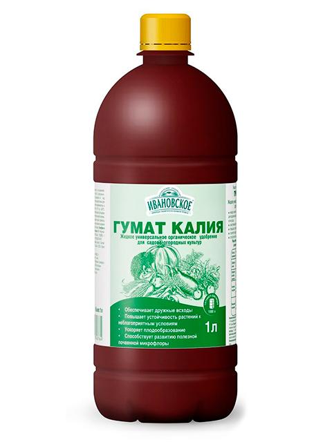 """Гумат калия универсальный, """"Ивановское"""", 1л"""