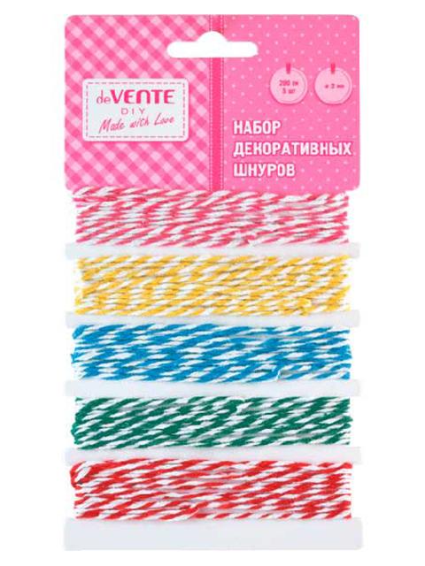 Набор декоративных шнуров deVENTE 5шт, в пакете
