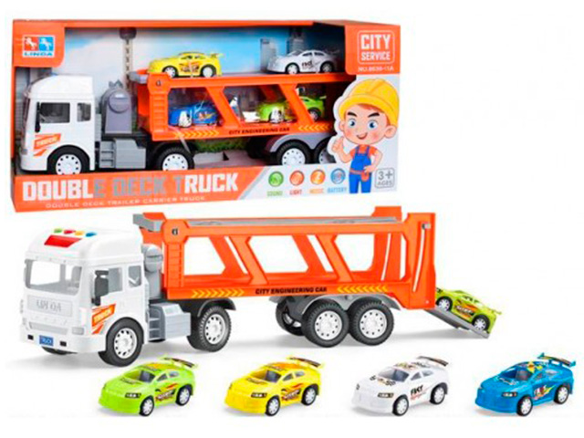 Игровой набор Автовоз с 4 машинками