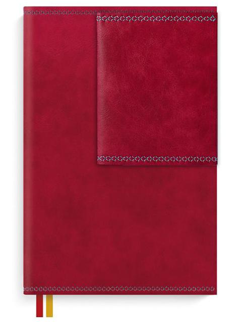 """Ежедневник недатированный А5 160 листов Феникс+ """"Escalada"""" к/зам, красный,  в под.упак"""