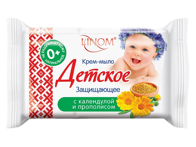 Крем-мыло детское LINOM Защищающее, с календулой и прополисом, 65г.